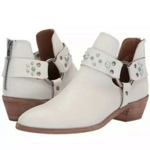 Frye Ray Stone Harness Back Zip Ankle Boot NEW